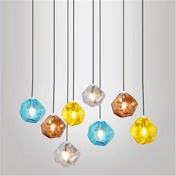 Lampu Modern Loft Lampu Gantung Kaca Liontin Lampu LED Lampu Liontin Dapur Restoran Bar Ruang Tamu Kamar Tidur Perlengkapan Dapur