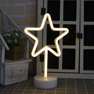 Image 5 - 코코넛 야자 나무 파티 용품 테이블 장식 홈 장식 어린이 선물 밤 램프에 대 한 홀더 자료와 led 네온 표지판 빛