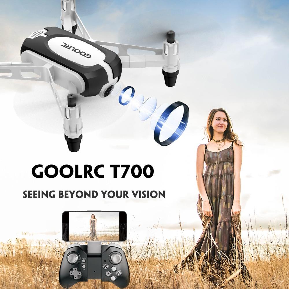 GoolRC T700 RC Drone with Camera 720P Wifi FPV Selfie Mini Drone G Sensor Altitude Hold
