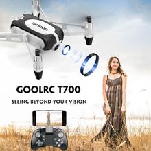 GoolRC T700 RC dron z kamerą 720P Wifi FPV Selfie Mini Drone G czujnik wysokość przytrzymaj jeden klucz powrót RC Quadcopters postawy polityczne w IN1601 tanie tanio Z tworzywa sztucznego Silnik szczotki 3 7V About 6 minutes Helikopter About 50m 4 kanałów 3 * AA Battery (not included)