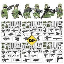 6 шт. военный человек собранные строительные блоки игрушки головоломка сборка камуфляж Geely одежда куклы