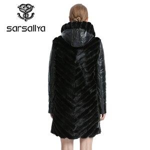 Image 5 - SARSALLYAธรรมชาติMink Coatแจ็คเก็ตผู้หญิงแจ็คเก็ตฤดูหนาวที่ถอดออกได้หนังขนสัตว์จริงผู้หญิงเสื้อผ้าเสื้อคลุมหญิง