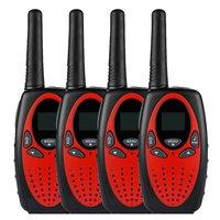 4X radio set 8 canals walkie talkie PMR Portable Radio reach 5 km 2 Way Radio LCD display UHF400 470MHZ