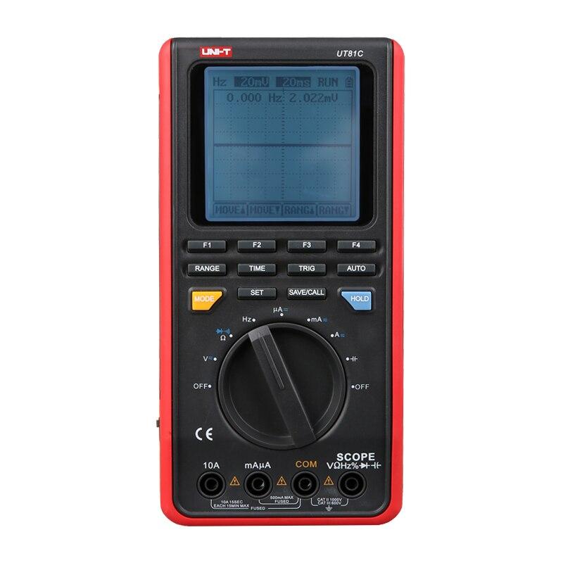 UNI-T Ut81C Portée Multimètres Numériques Mini Oscilloscope Entrée Haute Sensibilité Diode Usb Interface Pc Doux
