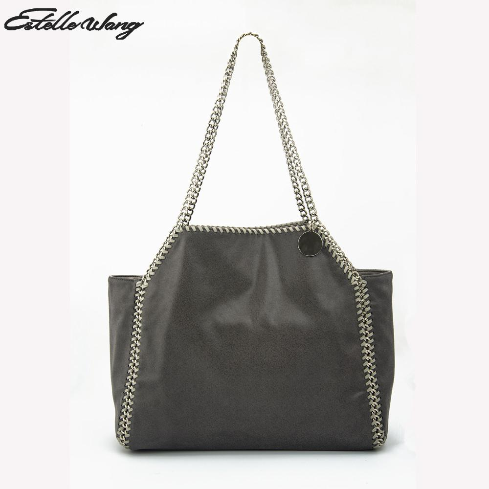370399b725fd Estelle Wang Casual Tote Pvc Chain Handbag Fashion Women Large Capacity  Shoulder Bag 2 Colors Pvc