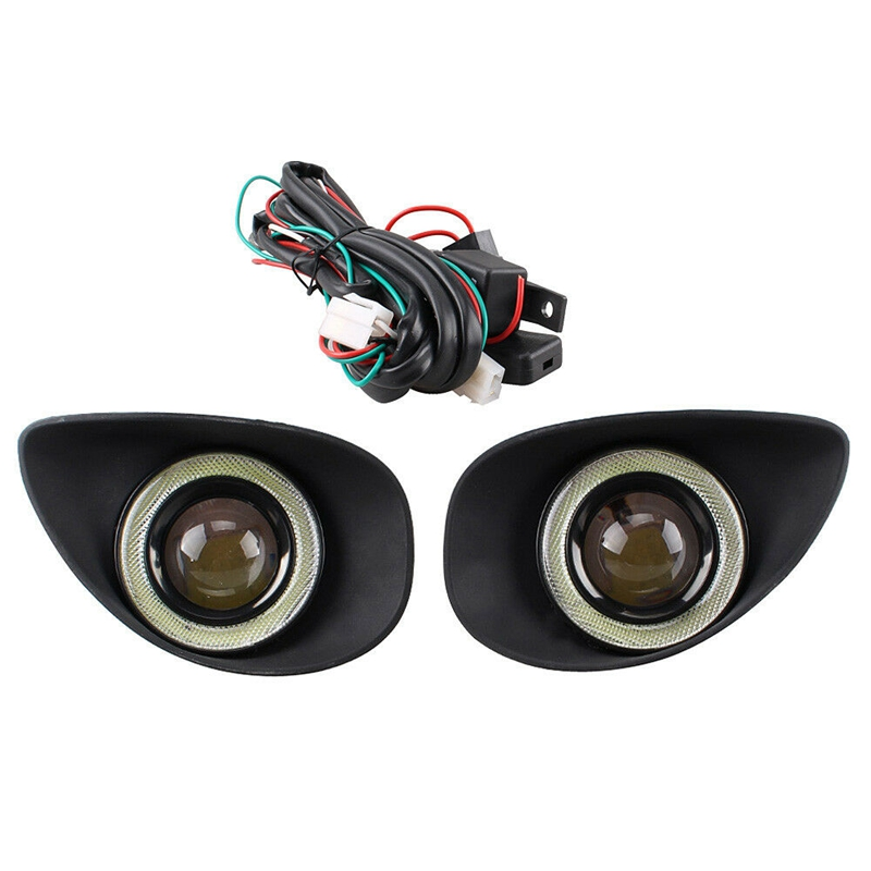 Angel Eyes Fog Light Fit For Toyota Yaris Hatchback 2008 2010 Clear Fog Lights Driving Lamps+Wiring Harness Driving Lamps
