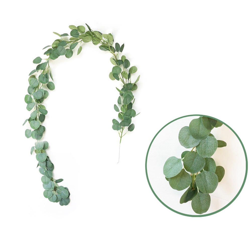2m Artificial Eucalyptus Leaves Vine Fake Leaf Garland Wedding Party Decor Hot2m Artificial Eucalyptus Leaves Vine Fake Leaf Garland Wedding Party Decor Hot