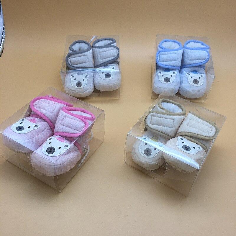 До мягкая подошва клея на хлопковой подкладке для малышей обувь осенью и зимой Фонд детские на мягкой подошве обувь с хлопчатобумажными сте