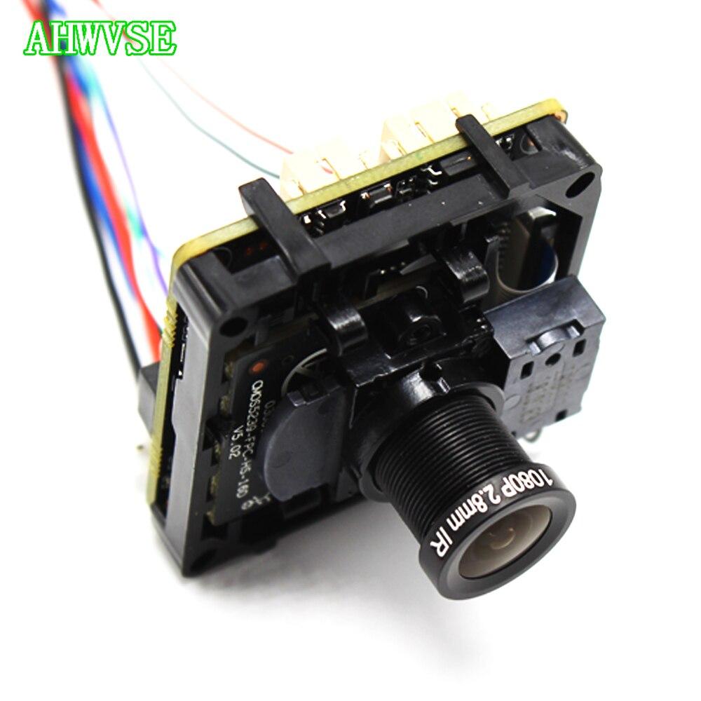 Vue large 2.8mm objectif 5MP IPC Board 1920 P CMOS capteur bricolage CCTV IP caméra module PCB carte avec IRCUT ONVIF APP XMEYE