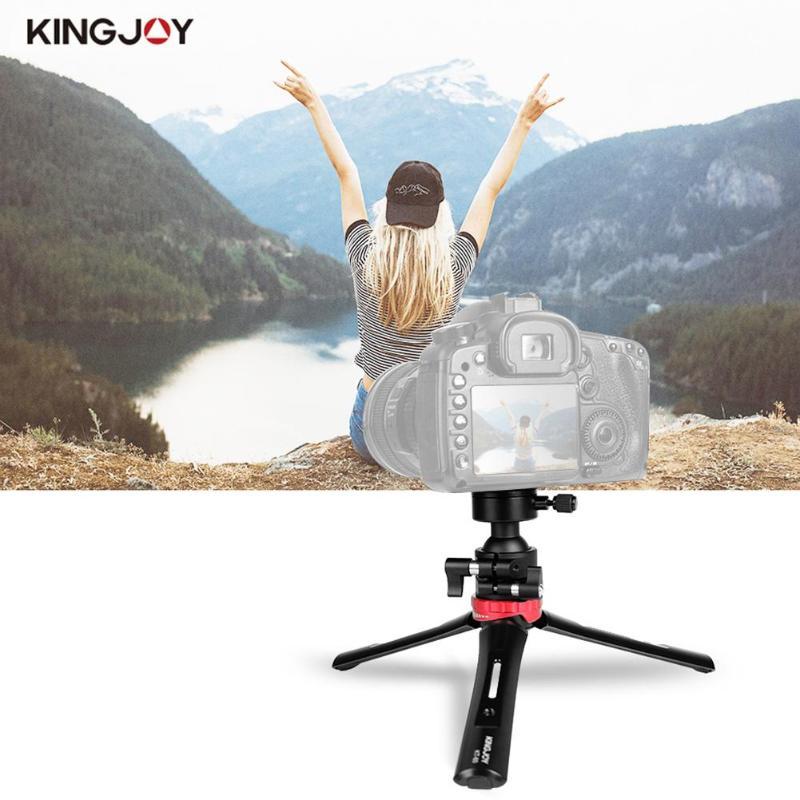 Kingjoy KT-60 Mini caméra trépied réglable Stable table trépied de bureau avec 360 degrés Ballhead Bear 3kg pour appareils photo DSLR - 4