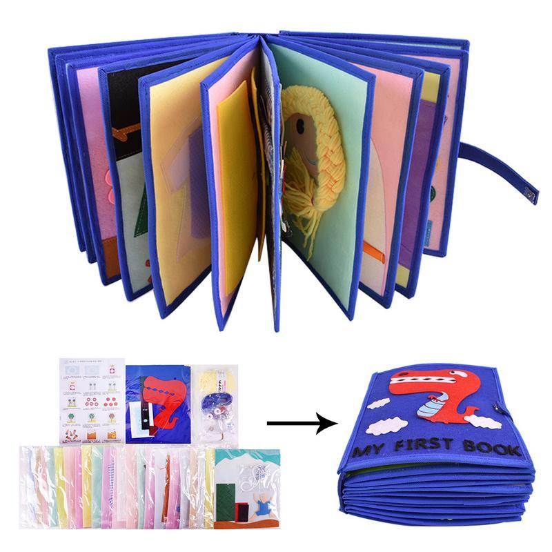 Livre en tissu pour enfants 3D livre à pansements Non tissé Puzzle d'intelligence manuel livre de jouets pour enfants livre de lecture de développement de l'éducation précoce