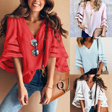 Boho Vintage Mujeres Nuevo diseño de moda vacaciones camisetas diarias ropa cómoda Casual suelta chal Cardigan gasa cuello en V