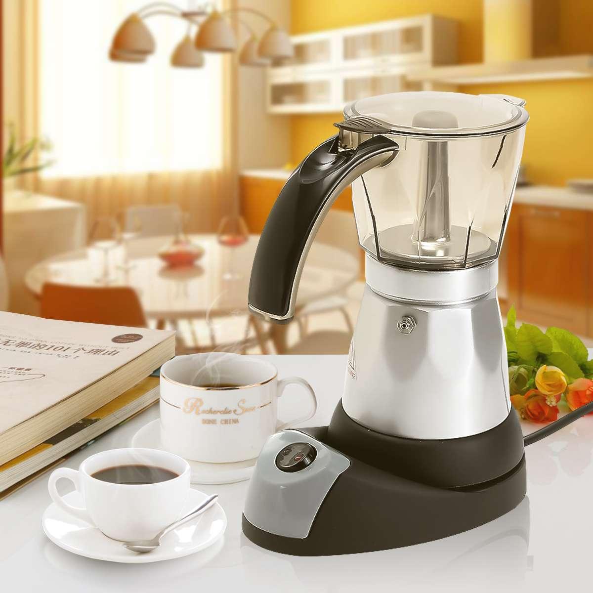 300 ml Mini cafetière électrique automatique Machine à café cuisine Cafetiere chauffage 6 tasses 3 minutes AU Plug 220-240 V théière