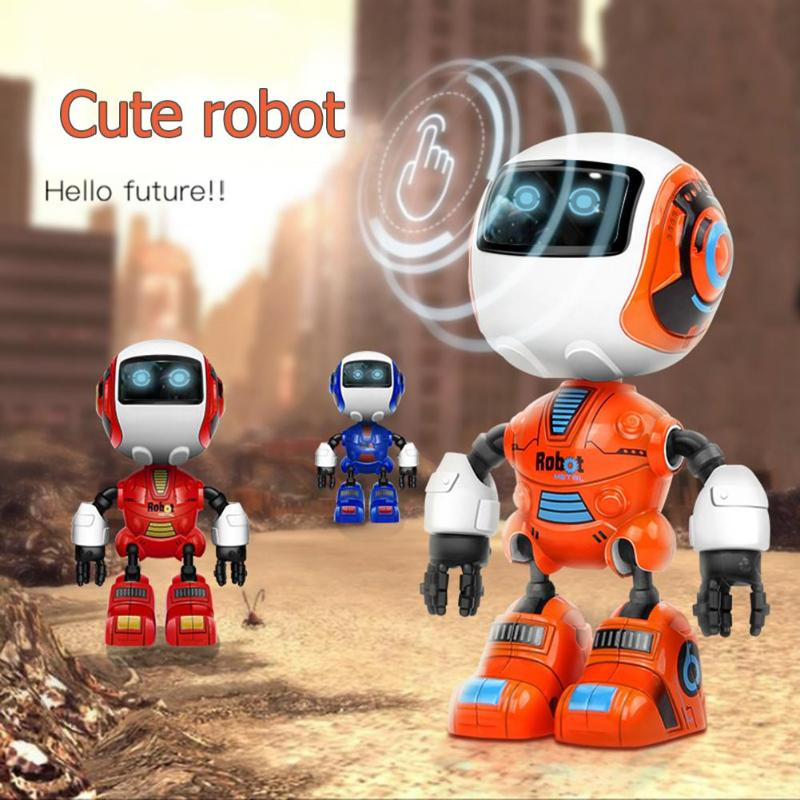 Toy Action-Figure-Model Led-Light Early-Educational-Toys Smart-Robot Sound-Alloy Kids