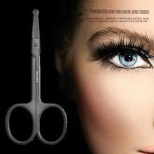 цены Stainless Steel Round Head Nose Hair Scissors Beard Eyebrow Ear Facial Hair Remover Trimmer