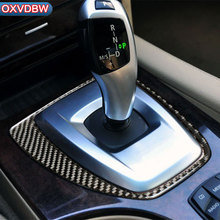 For bmw e60 5 series Carbon Fiber Interior Central Control Gear Shift Panel Decoration styling sticker 2004-2010 car Accessories