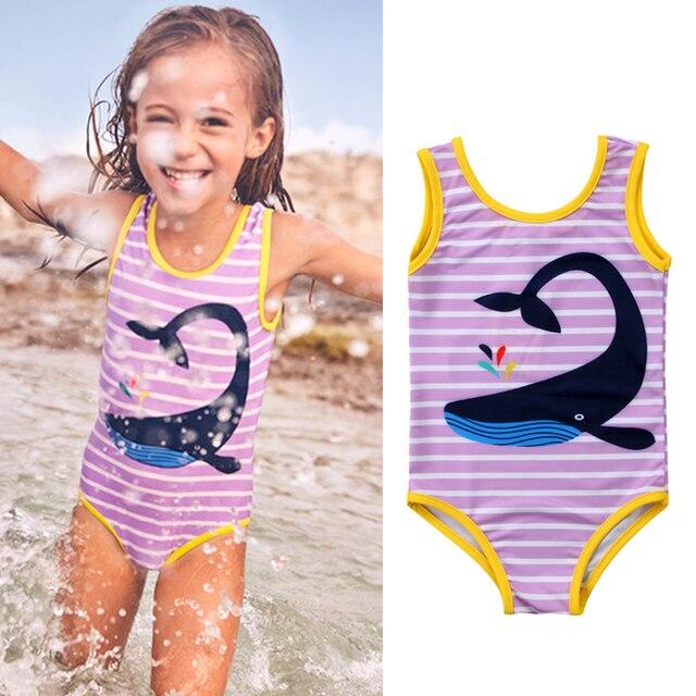 80d8c23541 2019 Summer Kids Baby Girl Swimwear One Piece Bikini Swimsuit Bathing Suit  Beachwear Children Swimming Clothes