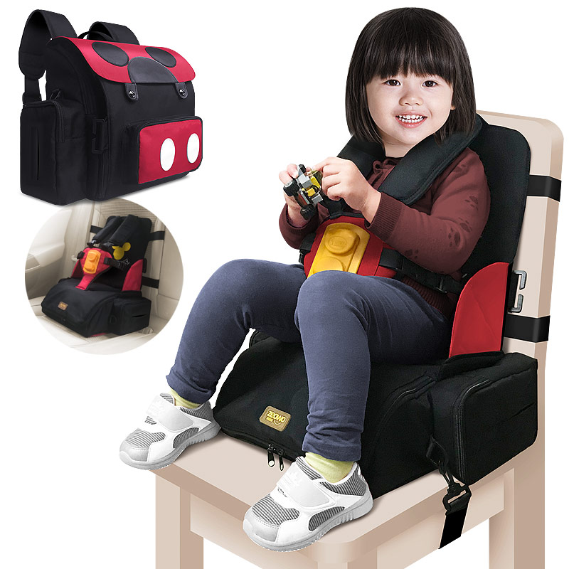 3 In 1 Multifunction Storage Seat Baby Feeding Booster Seat  Mommy Backpack Portable Baby Hight Chair Child Kids Seat