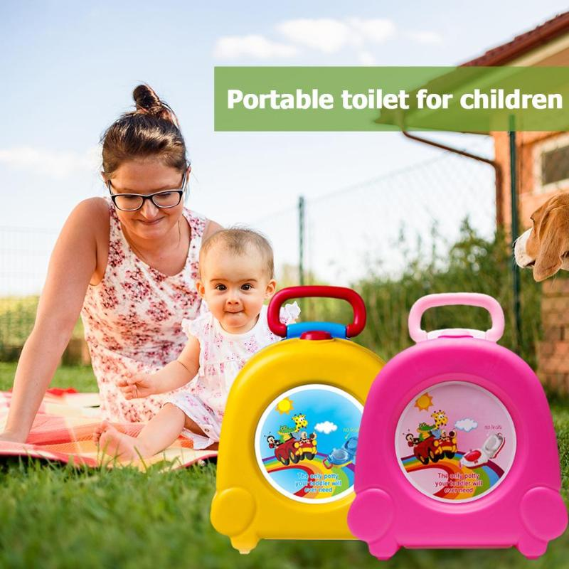 Cute Baby Toilet Portable Travel Car Infants Potty Chair Training Educational Children Pot Folding Seat Outdoor Squatty Potty