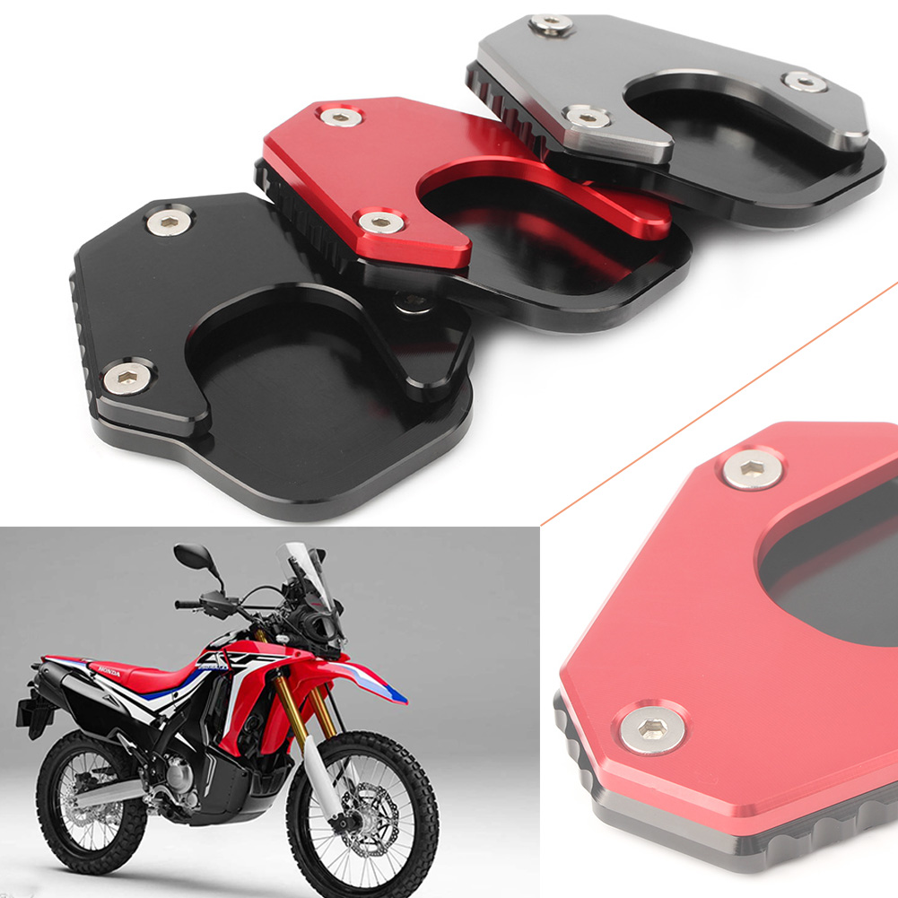 Kick Stand Support Plate Enlarge Pad Red for Honda CRF250 Rally 2017-2018