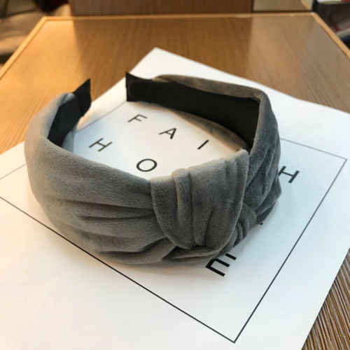 Womens Girl Bowknot Fabric Band Headband Twist Hairband Bow Knot Wide Cross Tie Velvet Headwrap Boho Hair Band Hoop Multicolor