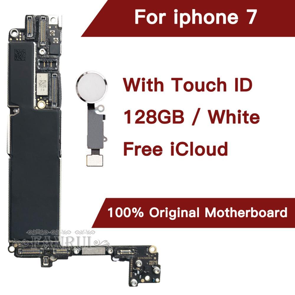 128 Gb Gold Für Iphone 7 4.7 Zoll Motherboard Mit Freies Icloud Handys & Telekommunikation Original Entsperrt Für Iphone 7 Mainboard Mit Touch-id Handyteile