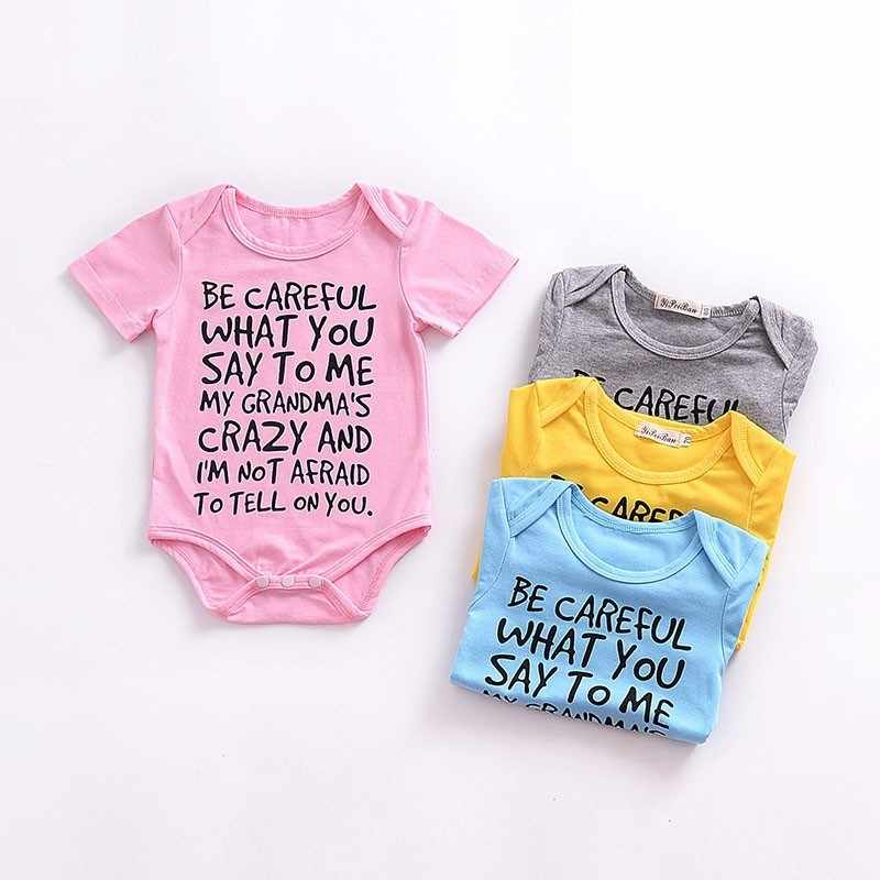 fc516597 Newborn Ropa Toddler Baby Boys Girls Rompers Print Letter Pure Cotton  Jumpsuit For Infant Boy Girl Summer Soft Climbs Clothing