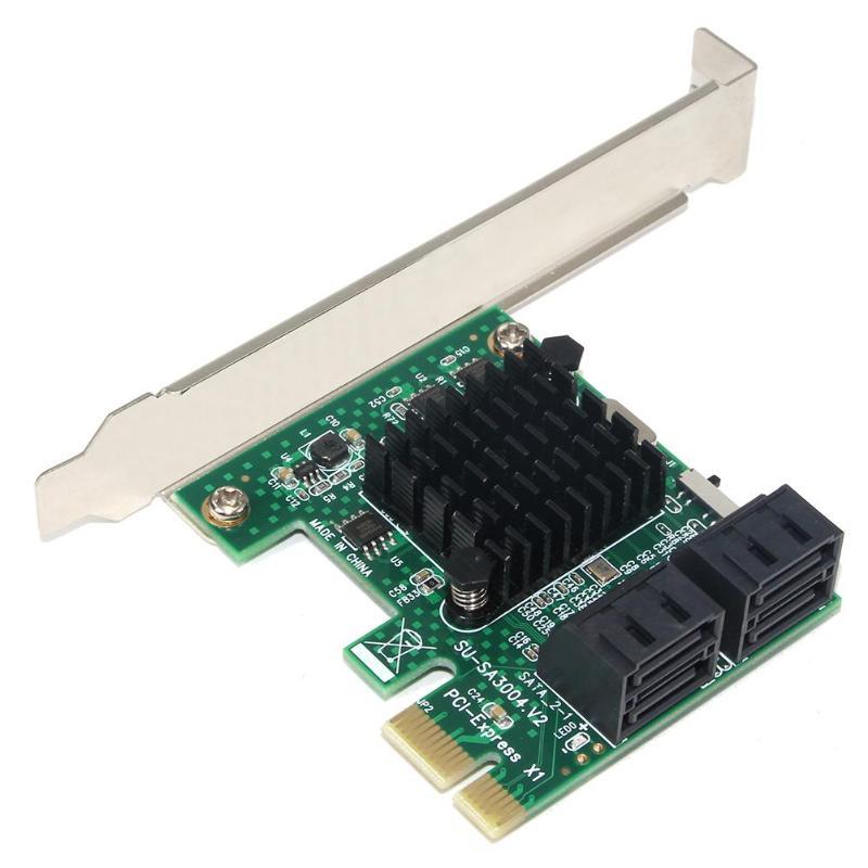 4 puertos SATA 3,0 tarjeta de expansión PCIe PCI express PCI e SATA adaptador PCI-e SATA 3 convertidor hdd SSD IPFS minería