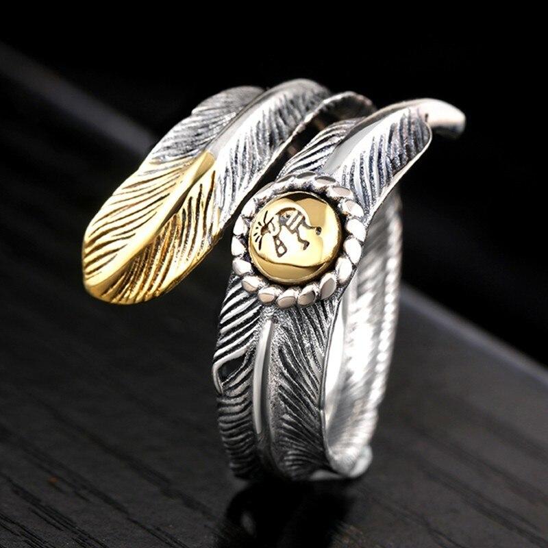 ZABRA 925 Ασημένια δαχτυλίδια vintage φτερά - Κοσμήματα - Φωτογραφία 2