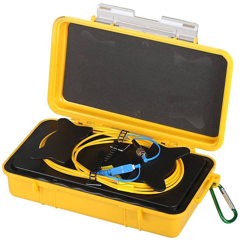 Frete grátis SC/UPC-FC/UPC OTDR Zona Morta Eliminador, Anéis de Fibra, fibra Óptica OTDR Lançamento Caixa de Cabo 500m 1km 2km SM 1310/1550nm
