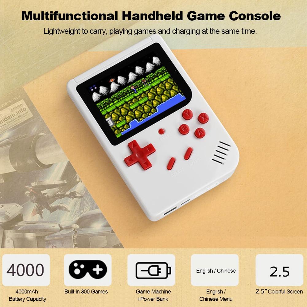 Retro Handheld Game Console 2.5inch Screen Portable Game Machine 4000mAh Power Bank 300 Classic Games dropship