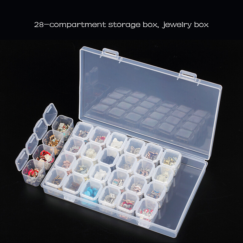 28 Slots Diamond Painting Plastic Nail Art Rhinestone Tools