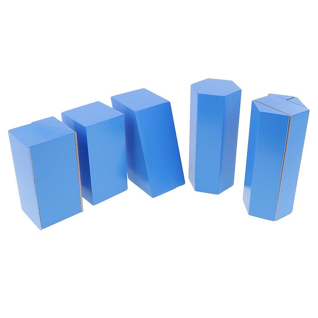 10 blocs géométriques en bois Montessori mathématique jeu éducatif sensoriel Imagination jouets cadeau pour enfants bébé enfants