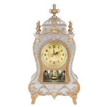 Reloj despertador de escritorio reloj de mesa retro clásico sala de estar TV gabinete escritorio muebles imperiales creativo Sit péndulo reloj