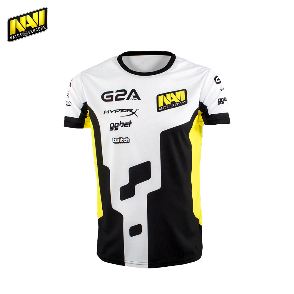 Фото - T-Shirts NATUS VINCERE FNVJERSSP17YL0000 mens shirt Clothing Tops Tees Jersey men Polyester NAVI CS:GO Dota 2 simple esports nuckily nj513 cycling polyester short sleeve riding jersey for men black white size l