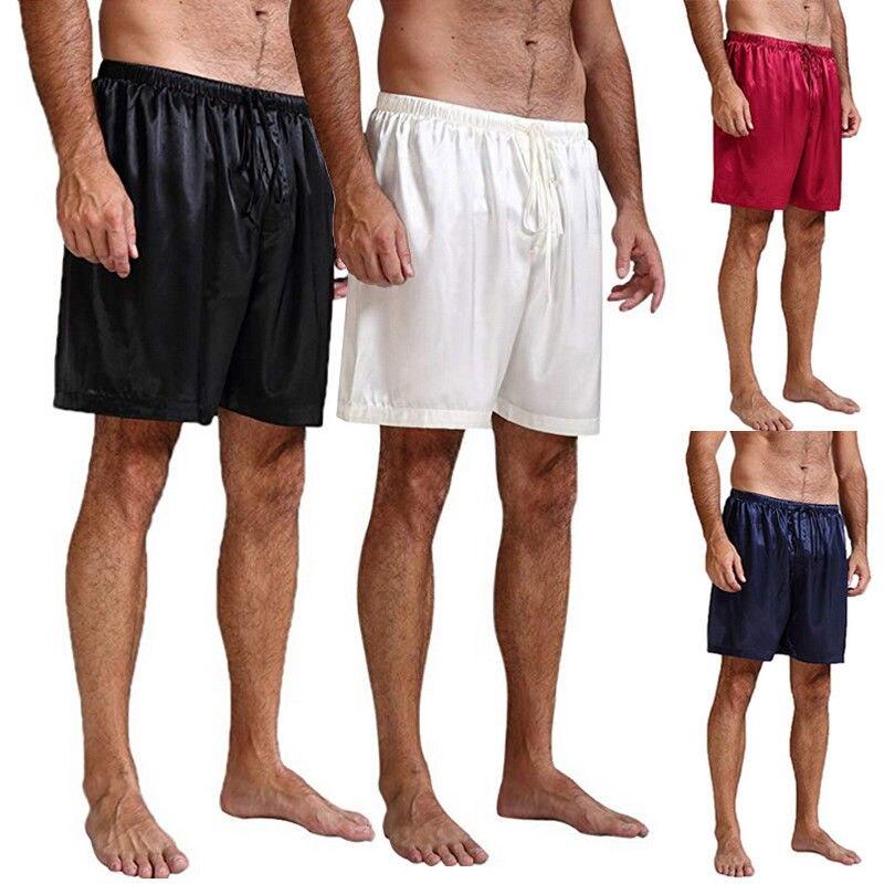 Men/'s Silk Satin Sleepwear Underwear Boxer Beach Shorts Pajamas Short Pants US