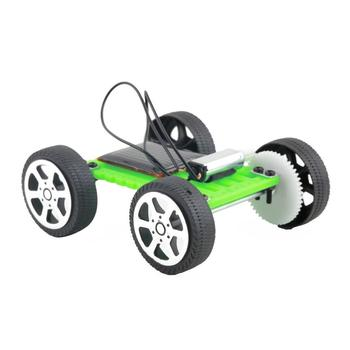 1Pcs Mini Solar Toy DIY Car Children Educational Puzzle IQ Gadget Hobby Robot UL 5