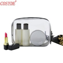 Women Make Up Organizer Storage Pouch Transparent PVC Cosmetic Bag Zipper Toiletry Wash Kit Case Girl Men Travel Makeup Bags leaves hanging cosmetic toiletry bags travel organizer beautician necessary functional makeup wash pouch accessories supplies