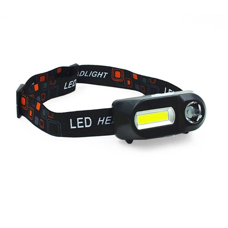 COB LED Headlight Headlamp Flashlight USB Rechargeable Torch Camping Hiking Night Fishing Light
