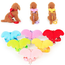 Cute Angel Dog Collar Traction Rope Pet Accessories Puppy Cat Belt Dress Up Props