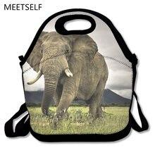 2ed53a129 SAMCUSTOM 3D Imprimir Enorme elefante Africano Almoço Sacos de Isolamento À  Prova de água homens e mulheres Bolsas de Pacotes de.
