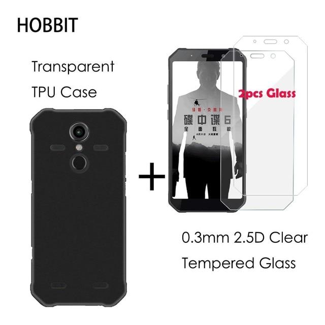 2.5D ברור מזג זכוכית מסך מגן עבור AGM A9 פרו מט שחור TPU חזרה כיסוי מקרה עבור AGM H1 X2 x3 הגנת LCD סרט