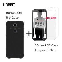 2.5D Clear Gehard Glas Screen Protector Voor Agm A9 Pro Matte Black Tpu Cover Case Voor Agm H1 X2 x3 Bescherming Lcd Film