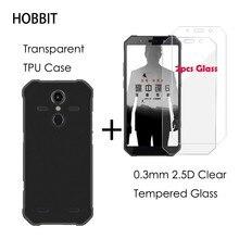 2.5D przezroczyste ochronne szkło hartowane na ekran do AGM A9 Pro matowe czarne etui na tył telefonu z obudową TPU do folii ochronnej AGM H1 X2 X3