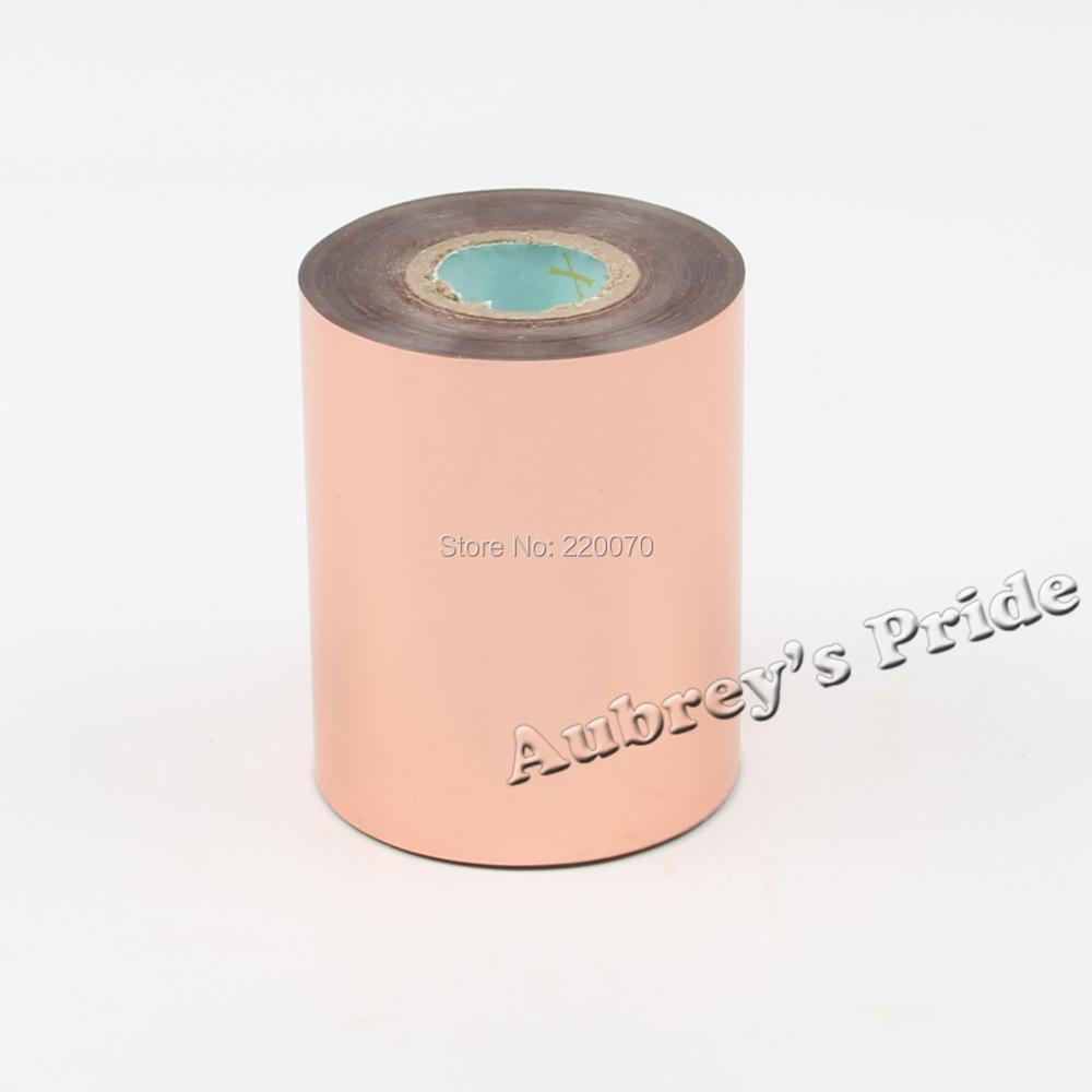 Free Shipping 80-320mmx120M Rose Gold Color Hot Stamping Foil Heat Transfer Napkin Gilding PVC business Card Emboss