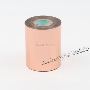 Free Shipping 80-320mmx120M Rose Gold Color Hot Stamping Foil Heat