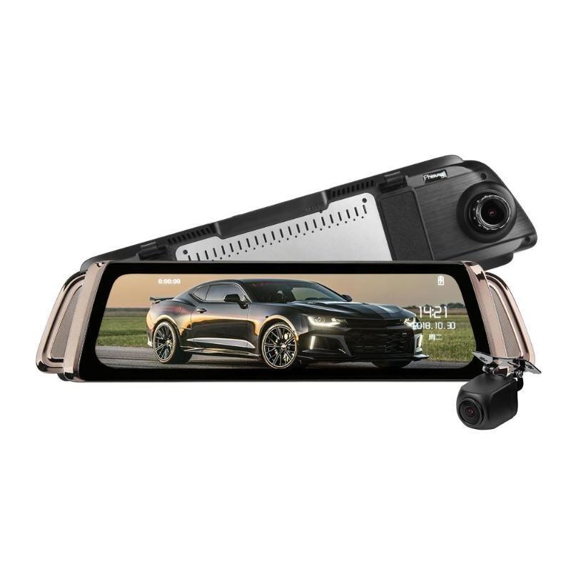 Phisung K1000 1080P FHD дюймов ips 9,35 двойной объектив автомобиля зеркало заднего вида камера видеорегистратор видео регистраторы Автомобильная элект