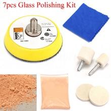 7pcs Cerium Oxide Powder Car Glass Polishing Windscreen Scratch Remover cerium oxide glass polishing cila 230g glass polishing powder cerium oxide