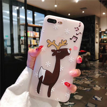 XINDIMAN Cartoon animal case for iphone X soft TPU phone backcover 7 7plus 6 6s 6plus cute deer 8 8plus XSMAX XR