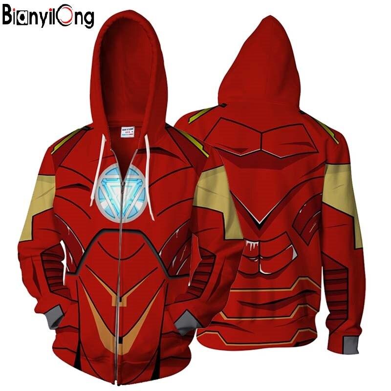 2018 Men Women New Fashion Autumn Winter Sportswear Tracksuit 3d Hoodies Sweatshirts Superhero Capitan America Iron Man Hoodies